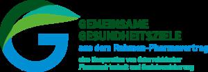 Logo: Gemeinsame Gesundheitsziele aus dem Rahmen-Pharmavertrag - Kooperation der österreichischen Pharmawirtschaft und Sozialversicherung